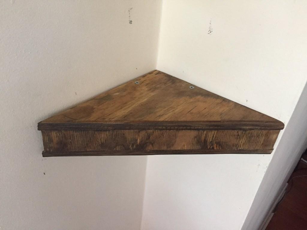 Floating Corner Shelves Wood Beadboard Vs Wainscoting In Corner Shelf For Dvd Player (#9 of 15)