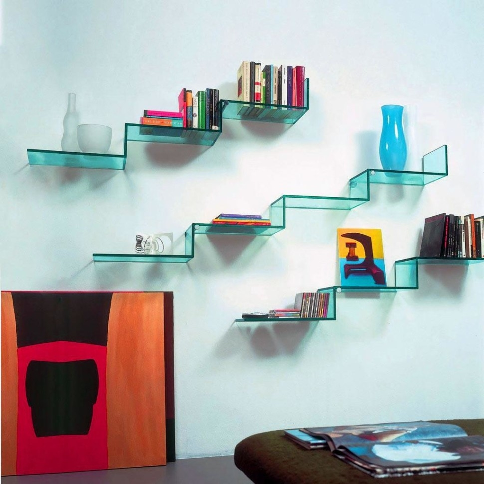 Floating Glass Shelf For Elegant And Minimalist Storage Home Throughout Floating Glass Shelves (#3 of 15)