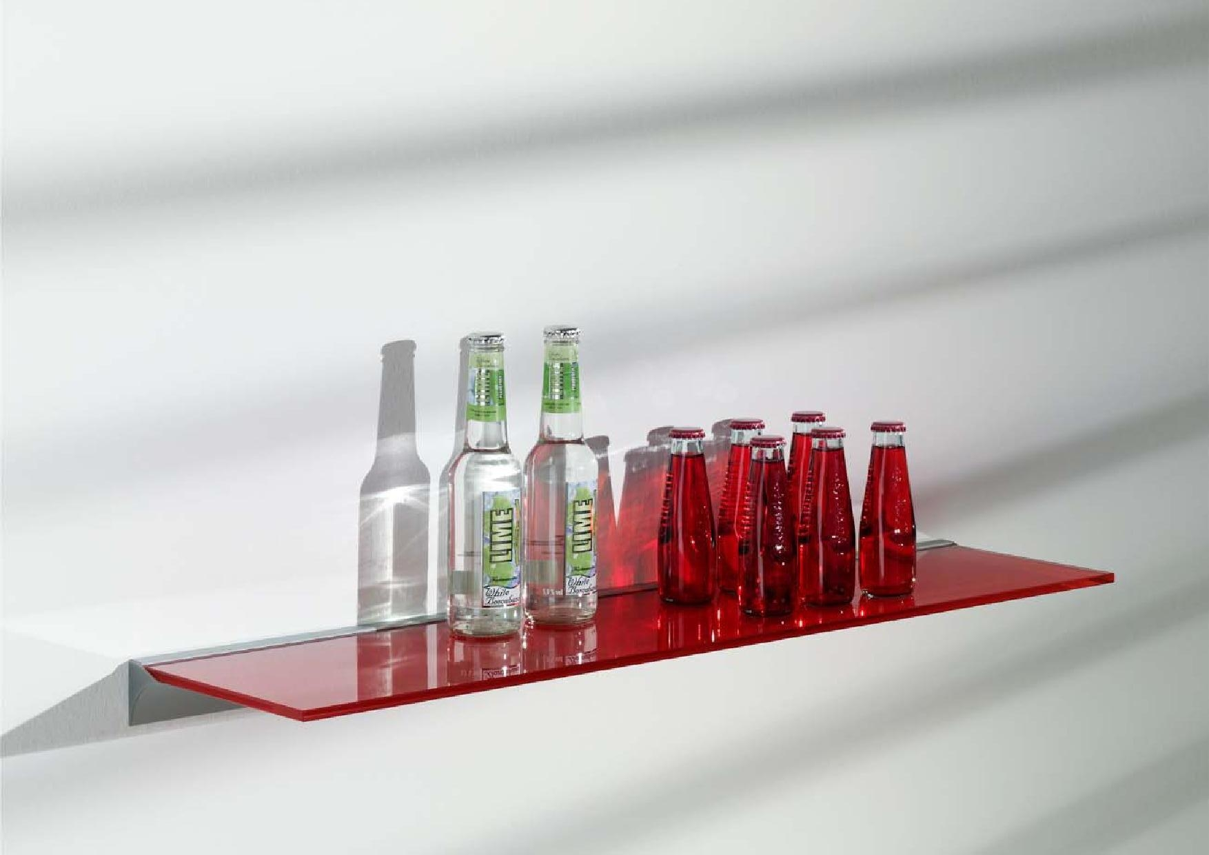 Floating Glass Shelf For Elegant And Minimalist Storage Home With Coloured Floating Shelves (View 8 of 15)
