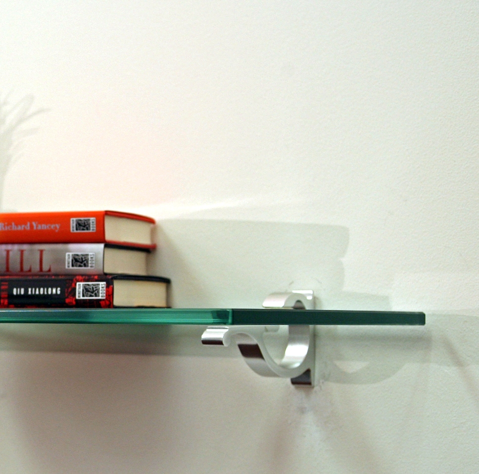 Floating Glass Shelf For Elegant And Minimalist Storage Home Within Floating Glass Shelves (#4 of 15)