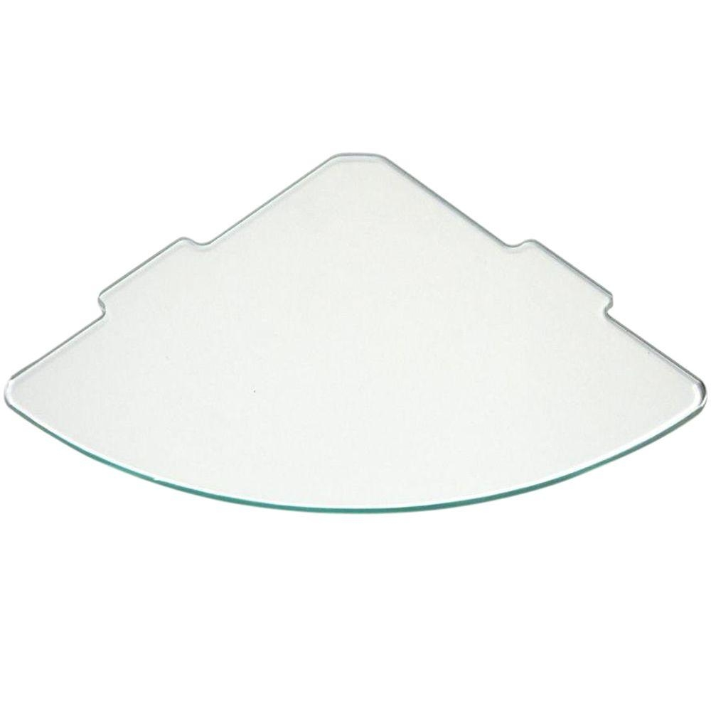 Floating Glass Shelves 14 In Curve Glass Corner Shelf Price With Regard To Floating Glass Corner Shelf (#4 of 12)
