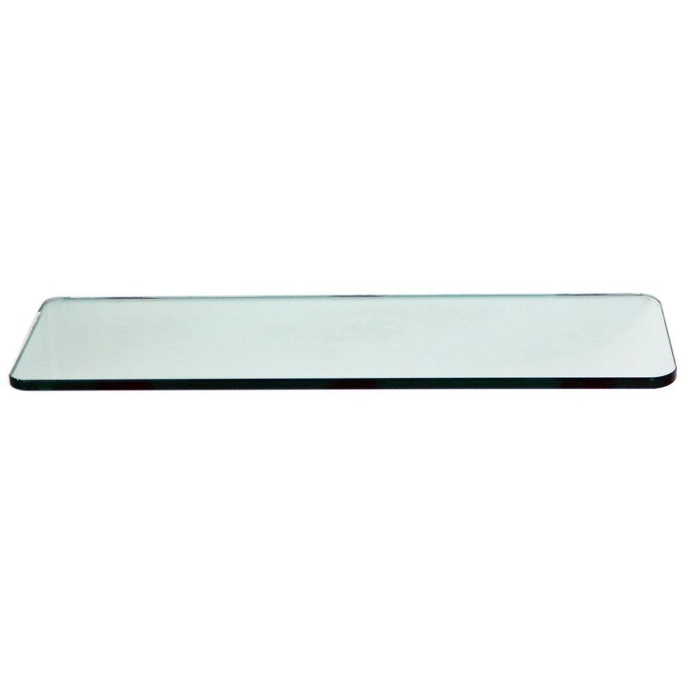 Floating Glass Shelves 38 In Rectangle Glass Corner Shelf Price For Free Floating Glass Shelves (#6 of 12)