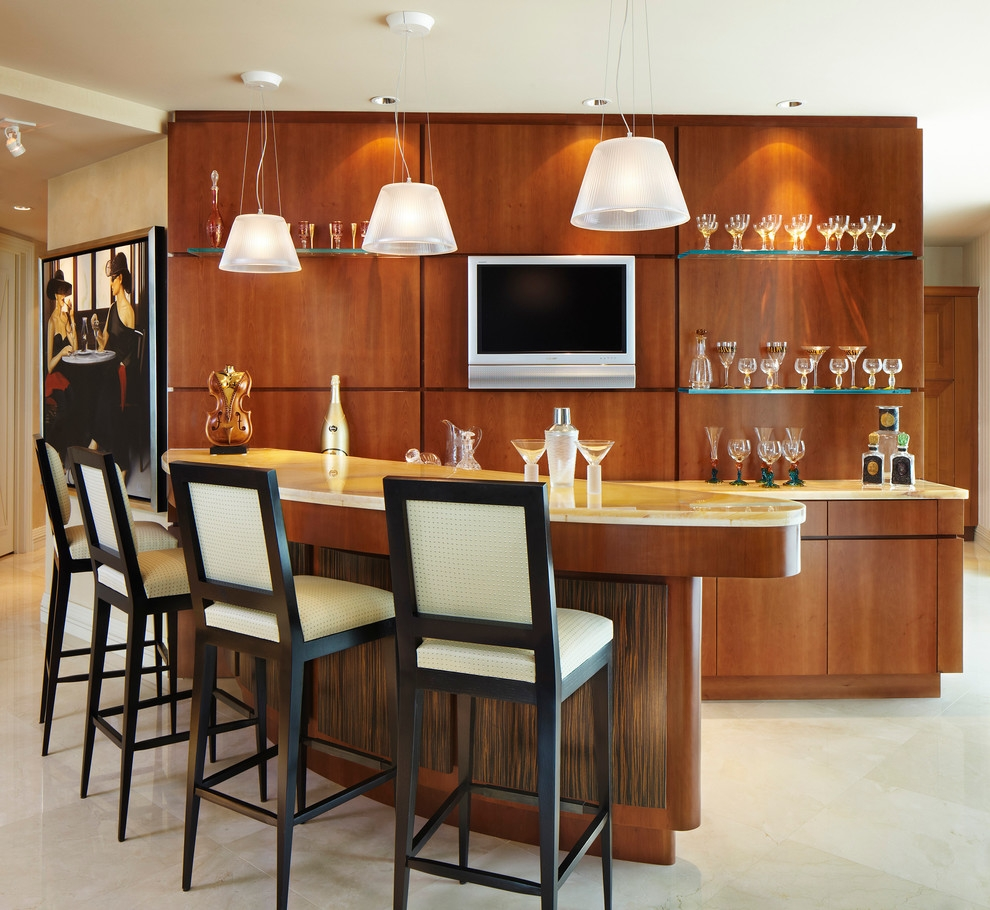 Floating Glass Shelves Family Room Modern With Art Bar Bar Stools In Floating Glass Shelves For Bar (#4 of 15)