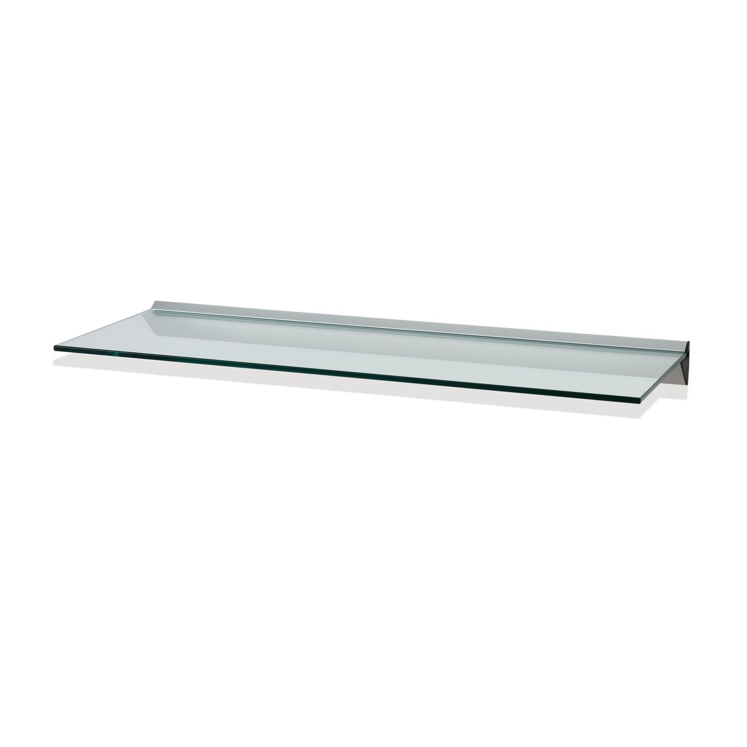Floating Glass Shelves For Cable Box Rectangle Two Clear Glass With Regard To Clear Glass Floating Shelves (#9 of 15)