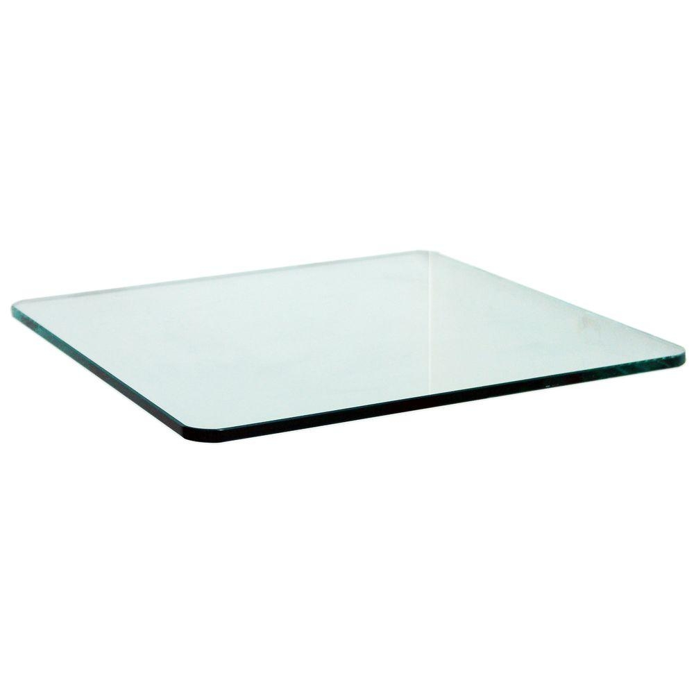 Floating Glass Shelves Wall Decor Decor The Home Depot Within Floating Glass Corner Shelf (#7 of 12)