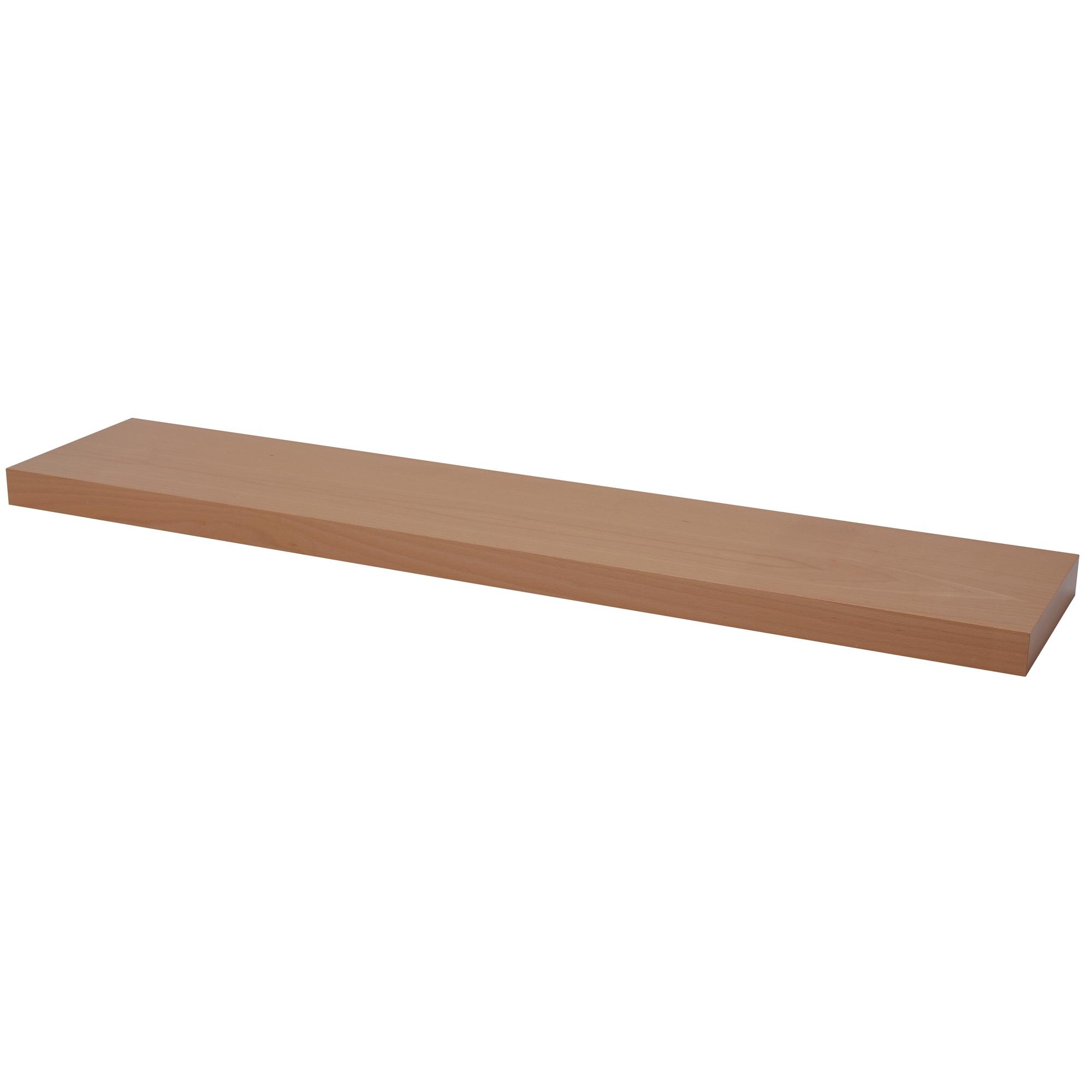 Floating Shelf Beech Veneer 120cm Pekodom Within Floating Shelves 120cm (#4 of 12)
