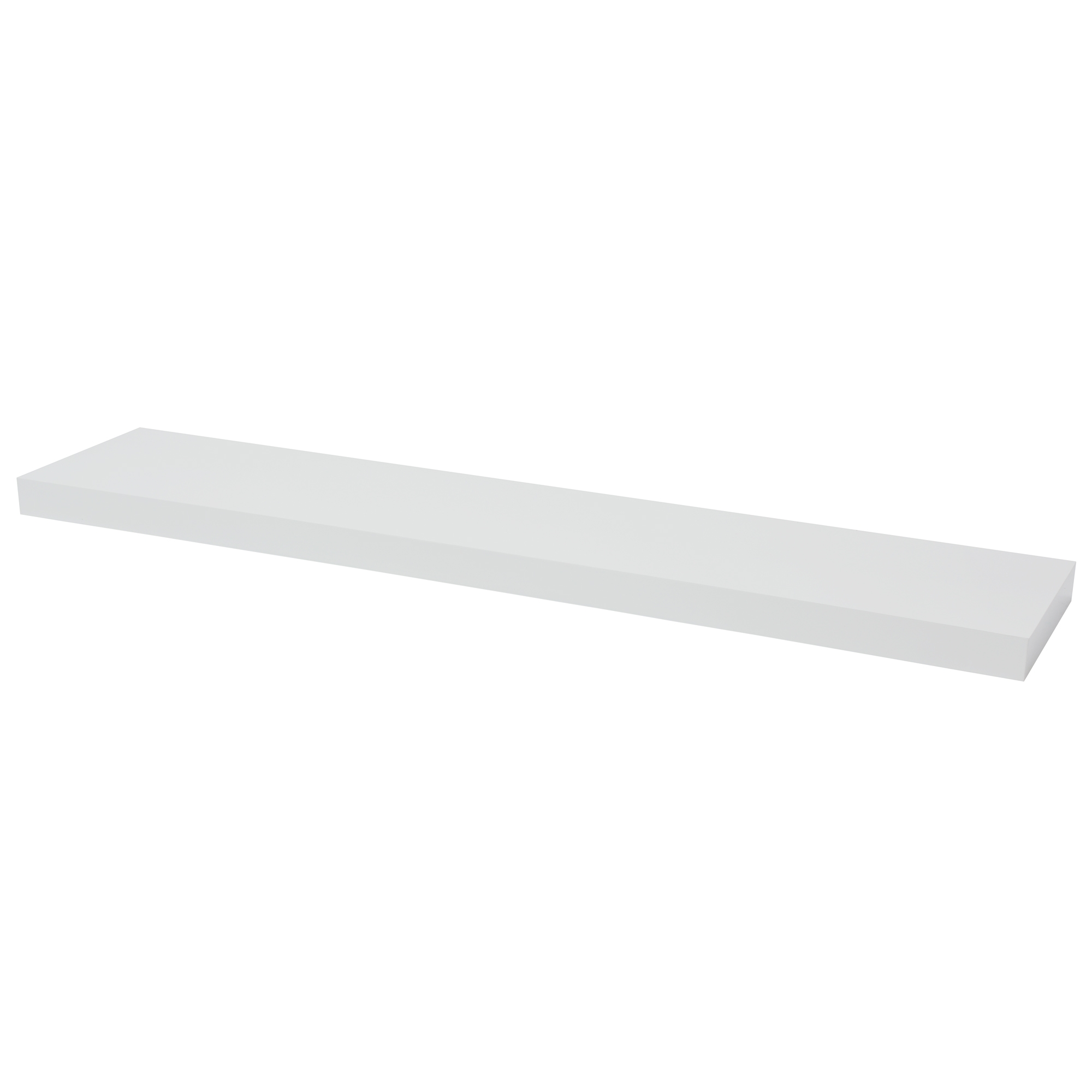 Floating Shelf High Gloss White Lacquered 120cm Pekodom Throughout Floating Shelves 120cm (#5 of 12)