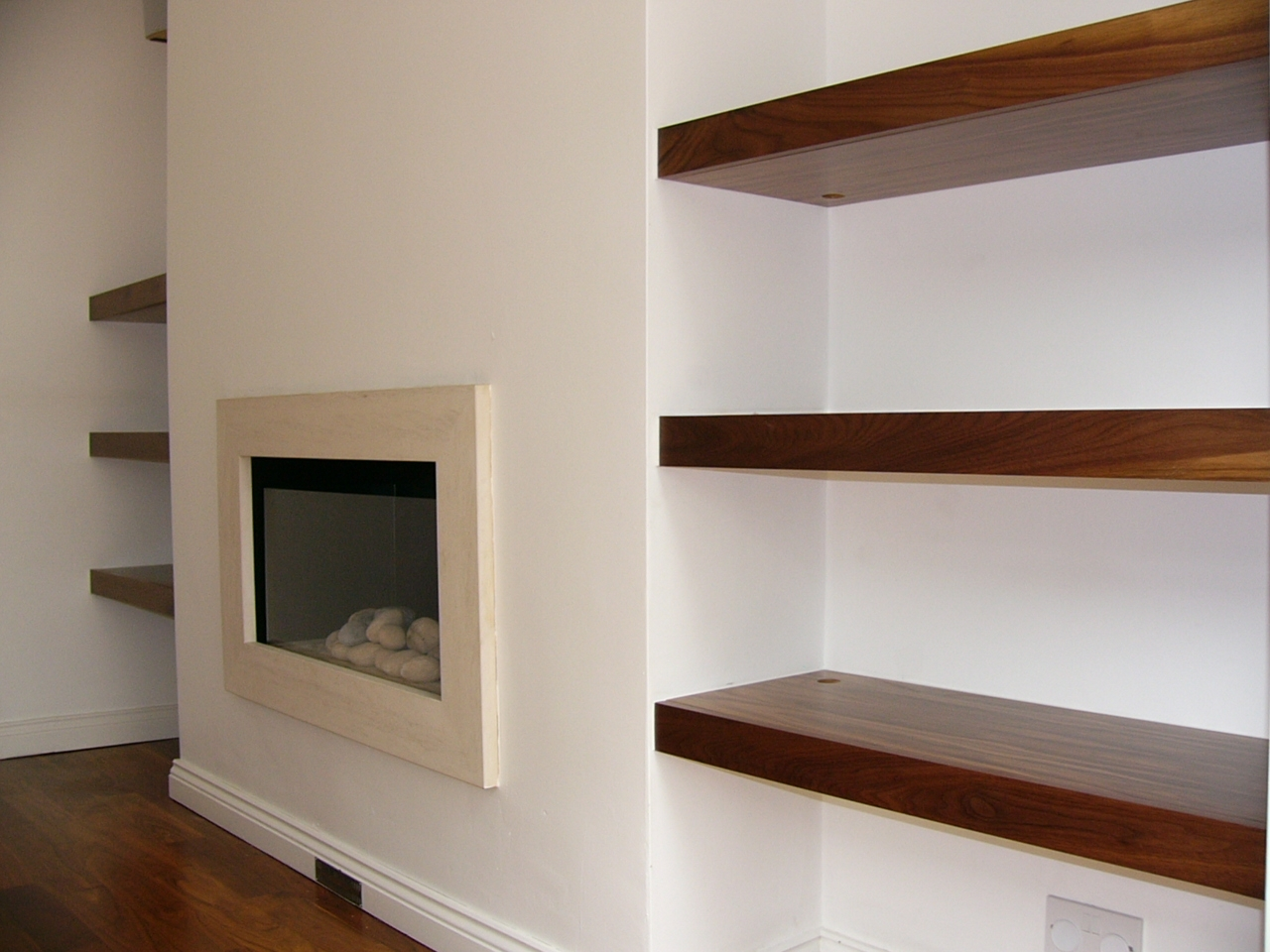 Floating Shelves Near Fireplace Httpwwwwoodgatedesign Throughout Fitted Shelves (View 15 of 15)