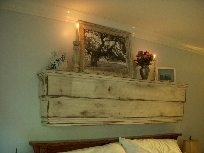 Floating Wall Mantel Wood Shelf Ledge Shab Furniture Inside Handmade Wooden Shelves (#4 of 15)