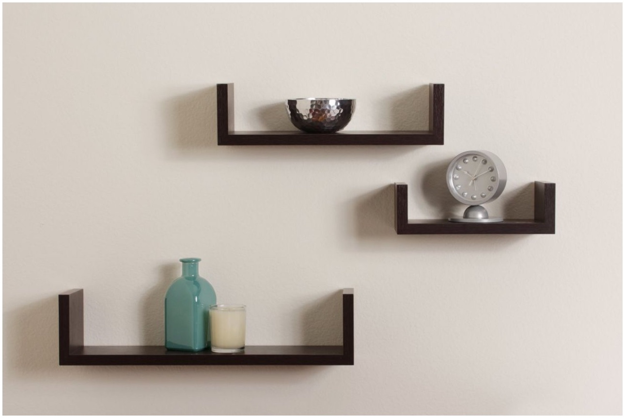 Floating Wall Shelf Brackets Floating Shelves For Crafts Wall 18 Pertaining To Floating Shelf 40cm (#5 of 15)