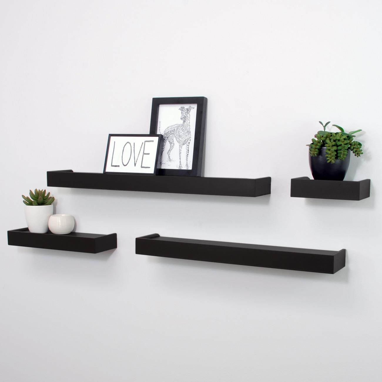 Floating Wall Shelves Black Corner Wall Shelf Black Floating Intended For Floating Wall Shelves (#6 of 12)