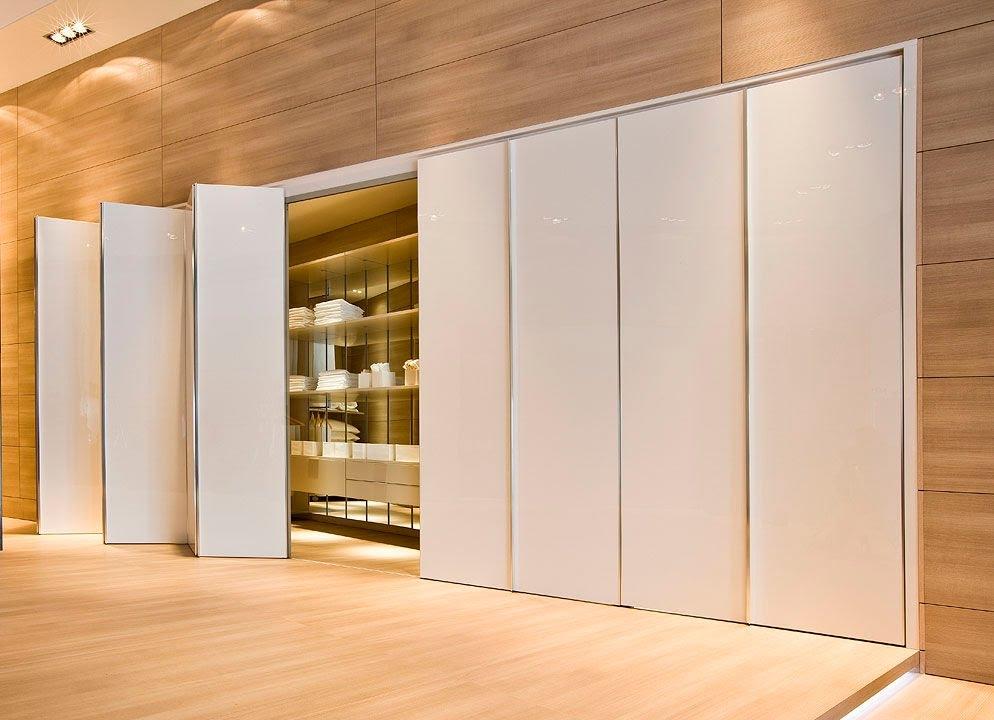 Folding Closet Doors Contemporary Bi Fold Closet Doors Youtube Within Folding Door Wardrobes (View 15 of 15)