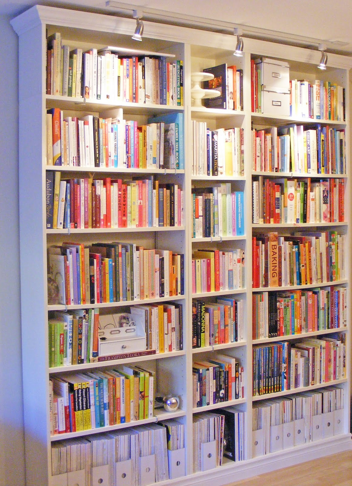 For The Nook Ikea Bookcases But Add Trim And Do Lights Across With Regard To Library Bookcase Lighting (View 8 of 15)