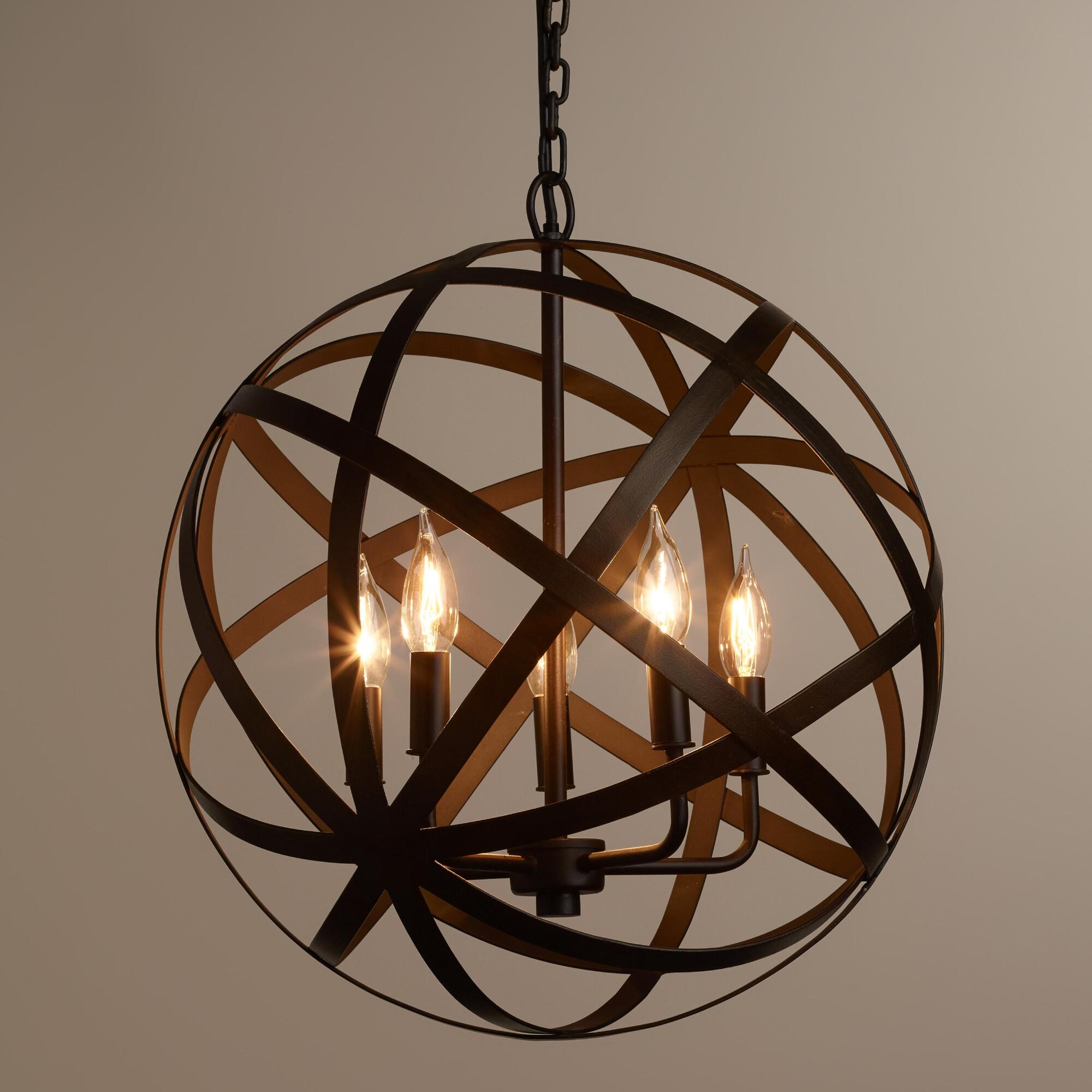 Foyer Lighting Ideas Light Is From Restoration Hardware Foucault Intended For Cage Chandeliers (#8 of 12)