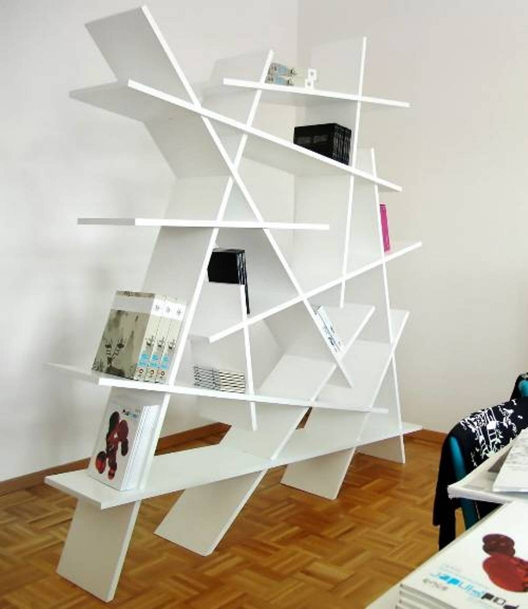 Free Standing Home Office Modern Bookshelf Home Office With Intended For Free Standing Book Shelf (#8 of 15)