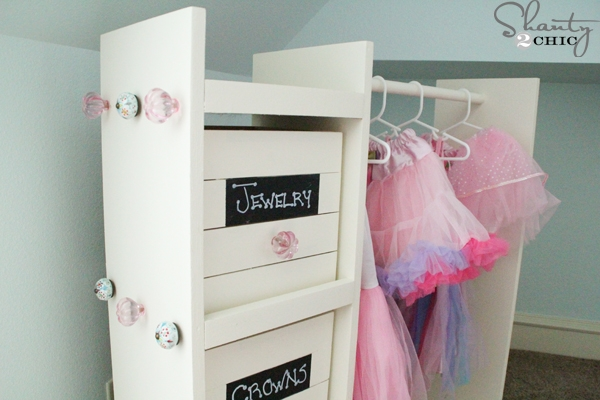 Free Woodworking Plans Diy Dress Up Cart Shanty 2 Chic Intended For Kids Dress Up Wardrobe Closet (View 7 of 15)