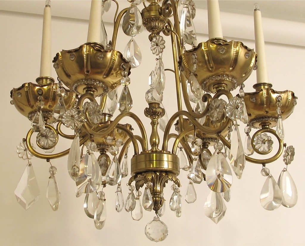 Popular Photo of Brass And Crystal Chandelier