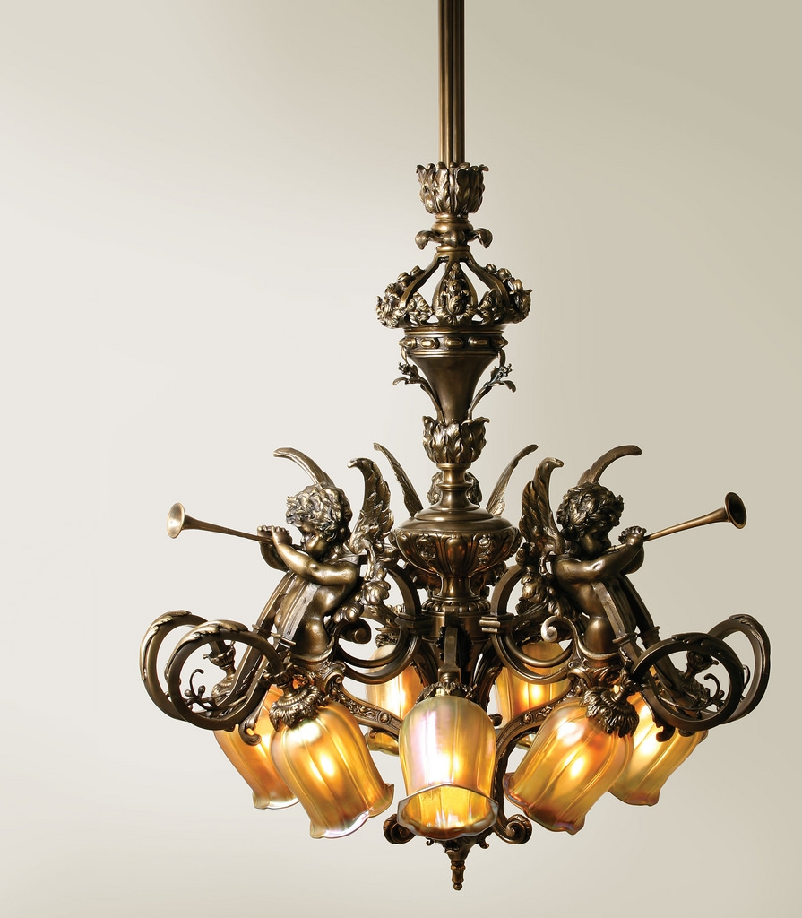 French Baroque Chandelier Nine Light Chandelier With Intri Flickr For Baroque Chandelier (#9 of 12)