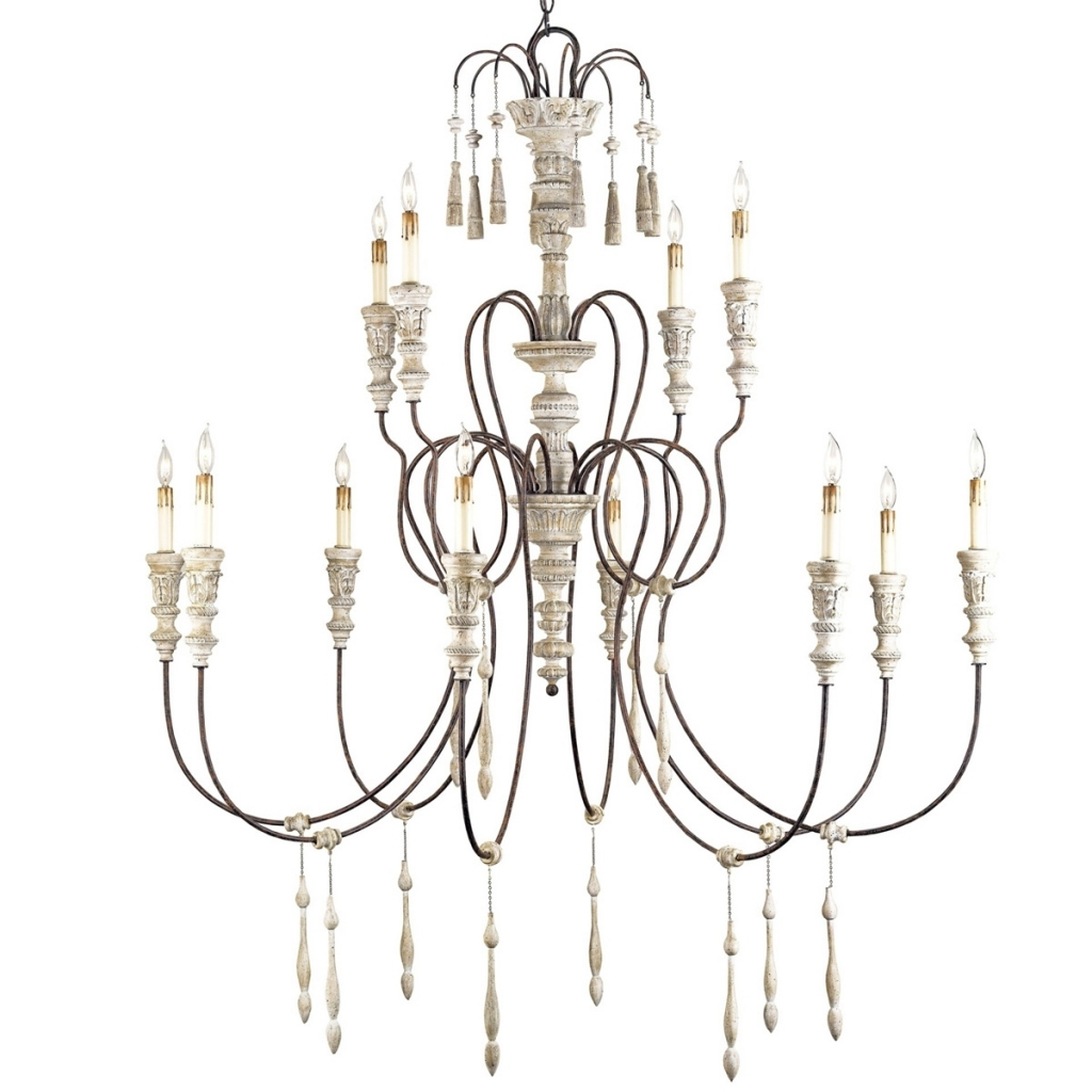 French Chic Style Furniture With Country Chic Chandelier (#10 of 12)