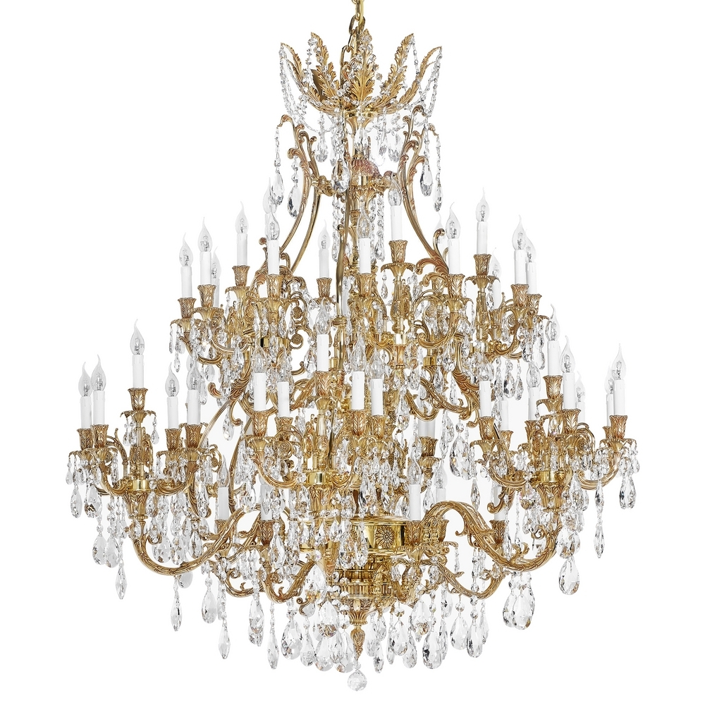 French Gold Chandelier With Scholer Crystal Collection 792 With French Gold Chandelier (#9 of 12)
