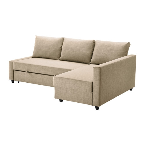Friheten Corner Sofa Bed With Storage Skiftebo Beige Ikea Inside IKEA Chaise Lounge Sofa (View 10 of 15)