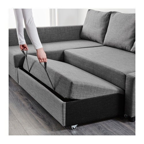 Friheten Corner Sofa Bed With Storage Skiftebo Dark Grey Ikea Regarding IKEA Chaise Lounge Sofa (View 11 of 15)