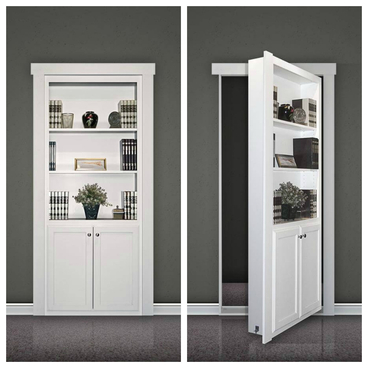 Fulfill A Childhood Dream With A Hidden Door Kit Fine Homebuilding Throughout Built In Bookcase Kit (#9 of 15)