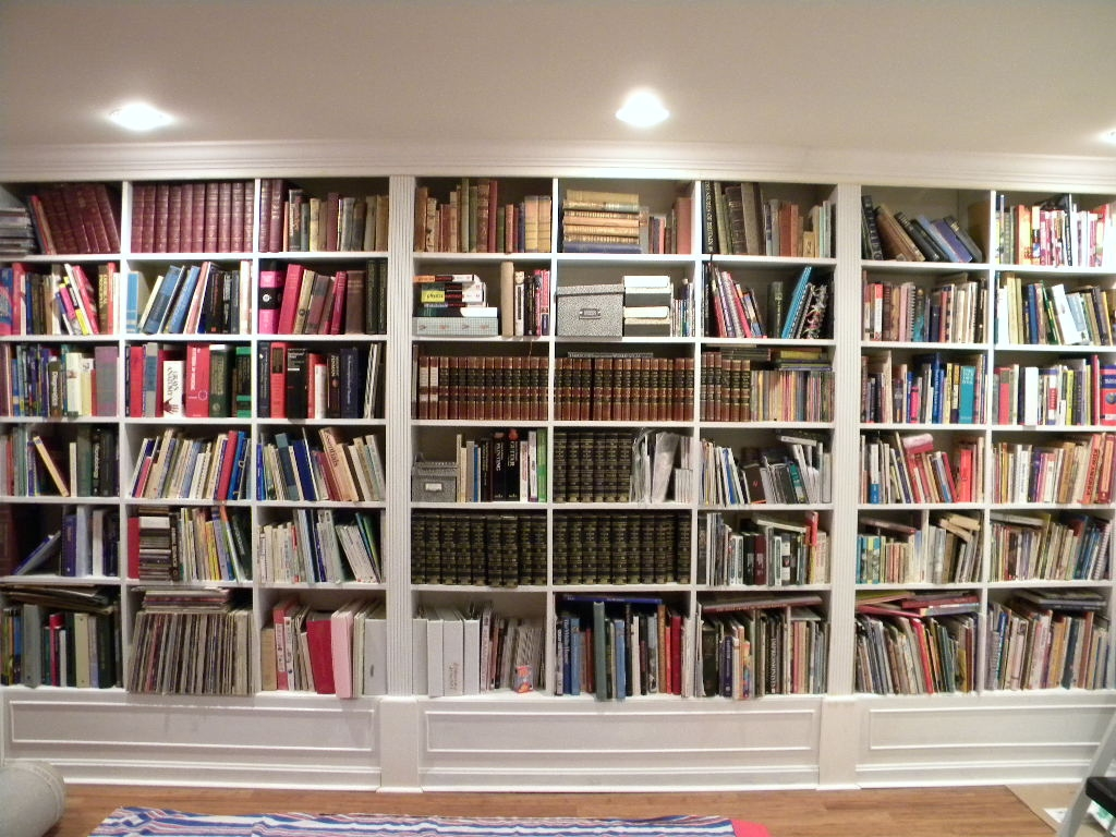 Full Wall Bookcases Nanobuffet Within Full Wall Bookshelf (View 6 of 11)