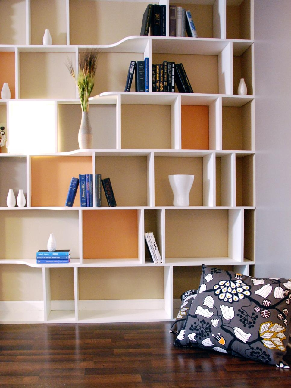 Functional And Stylish Wall To Wall Shelves Hgtv Regarding Full Wall Bookcases (#11 of 15)