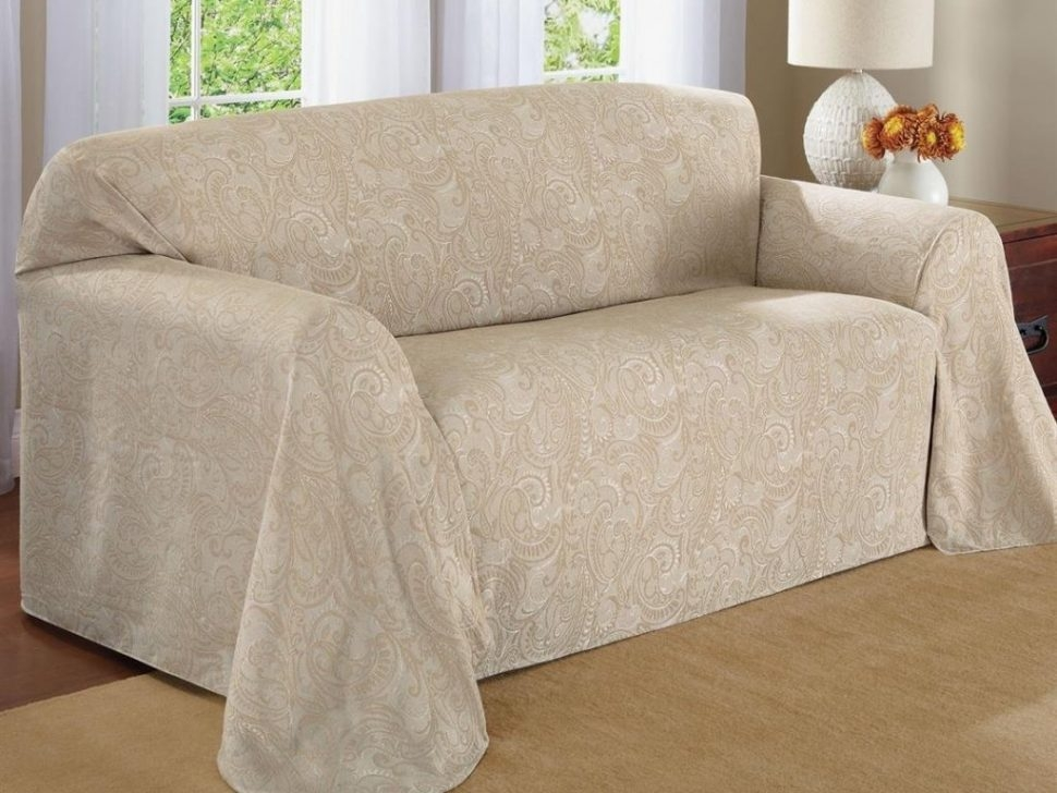 Furniture 3 Sofa Throws And Slipcovers Sure Fit Pet Throws And Intended For Large Sofa Slipcovers (#5 of 15)