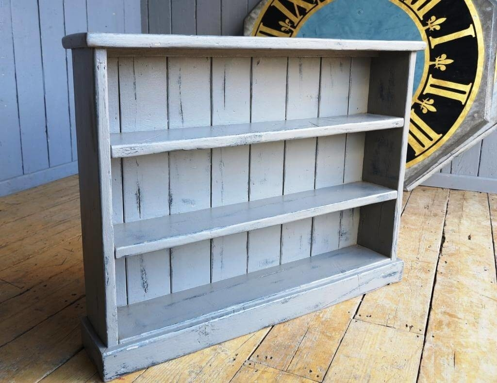 Furniture Aqua Hand Painted Bookcase And Breakfront Distressed Intended For Hand Painted Bookcase (#9 of 15)