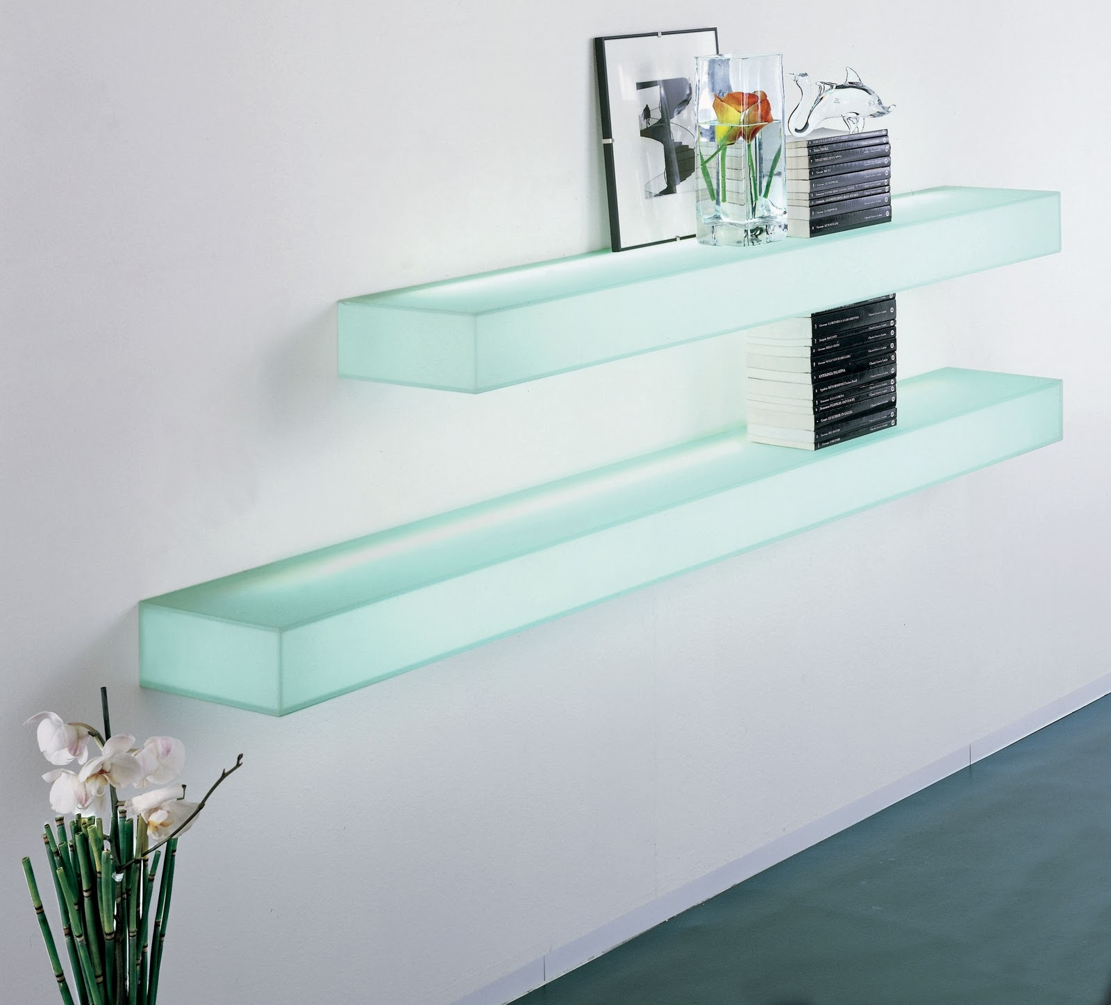 Furniture Awesome Illuminated Glass Bar Shelves Led Shelves W Pertaining To Illuminated Glass Shelves (#2 of 12)
