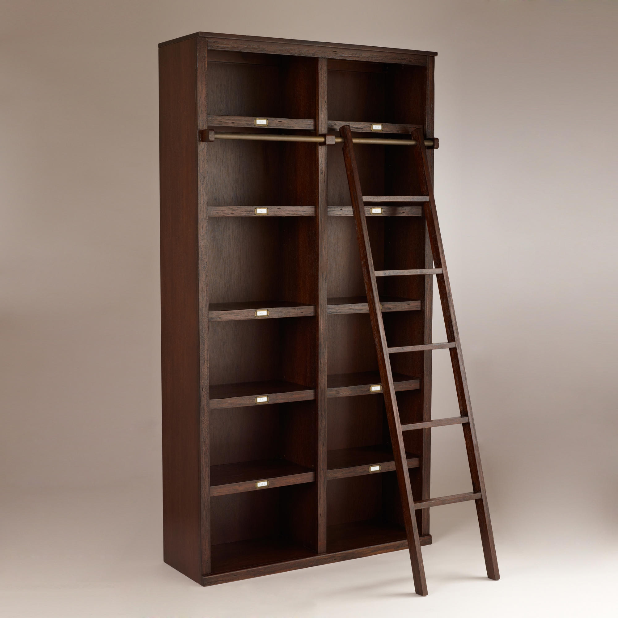 15 collection of wooden library ladders for Ikea wooden bookshelf