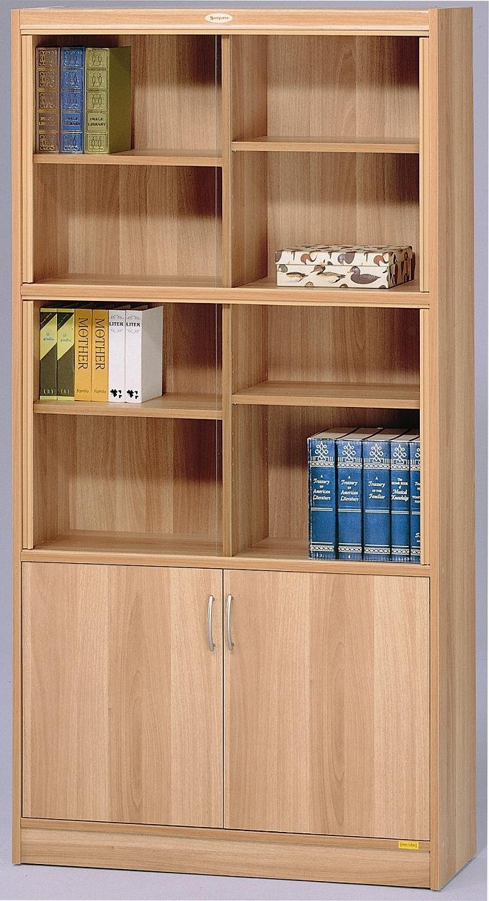 Furniture Classic Style Alder Bookcase With Solid Wood Door And Regarding Classic Bookcases (#9 of 15)