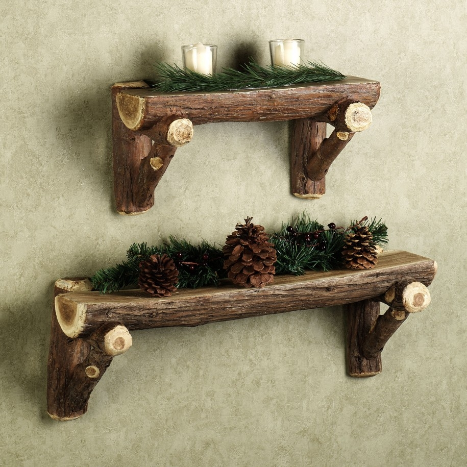Furniture Creative Wood Wall Shelves Design Ideas For Christmas In Wooden Wall Shelves (#2 of 15)