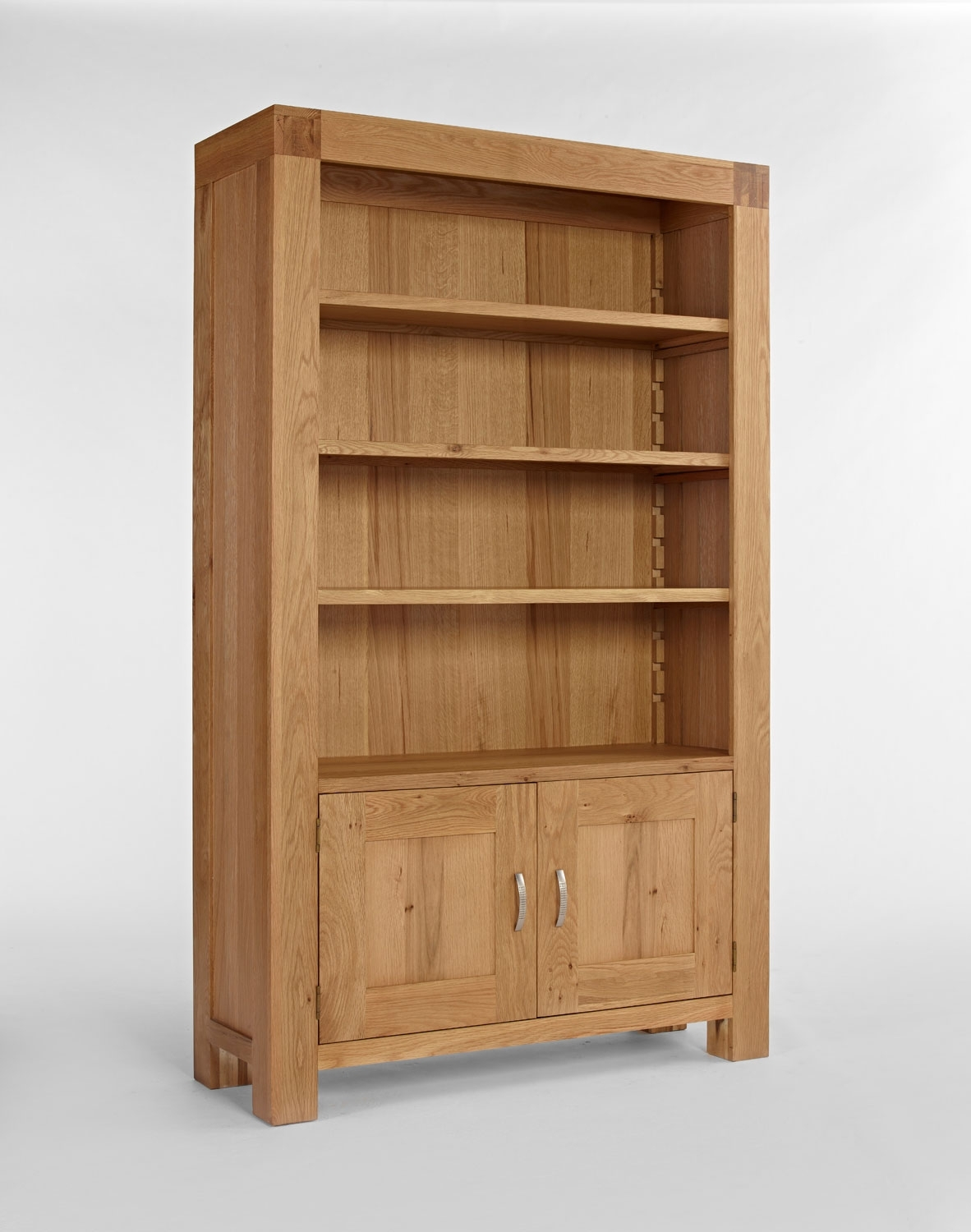 Furniture Dark Grey Wooden Bookcase With Glass Door And Drawer Pertaining To Large Wooden Bookcases (View 11 of 15)