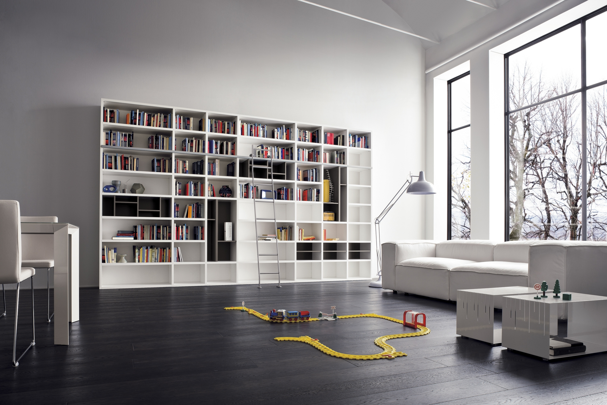 Furniture Design And Room Decoration Enchanting Modern Library With Regard To Library Shelves For Home (#6 of 15)