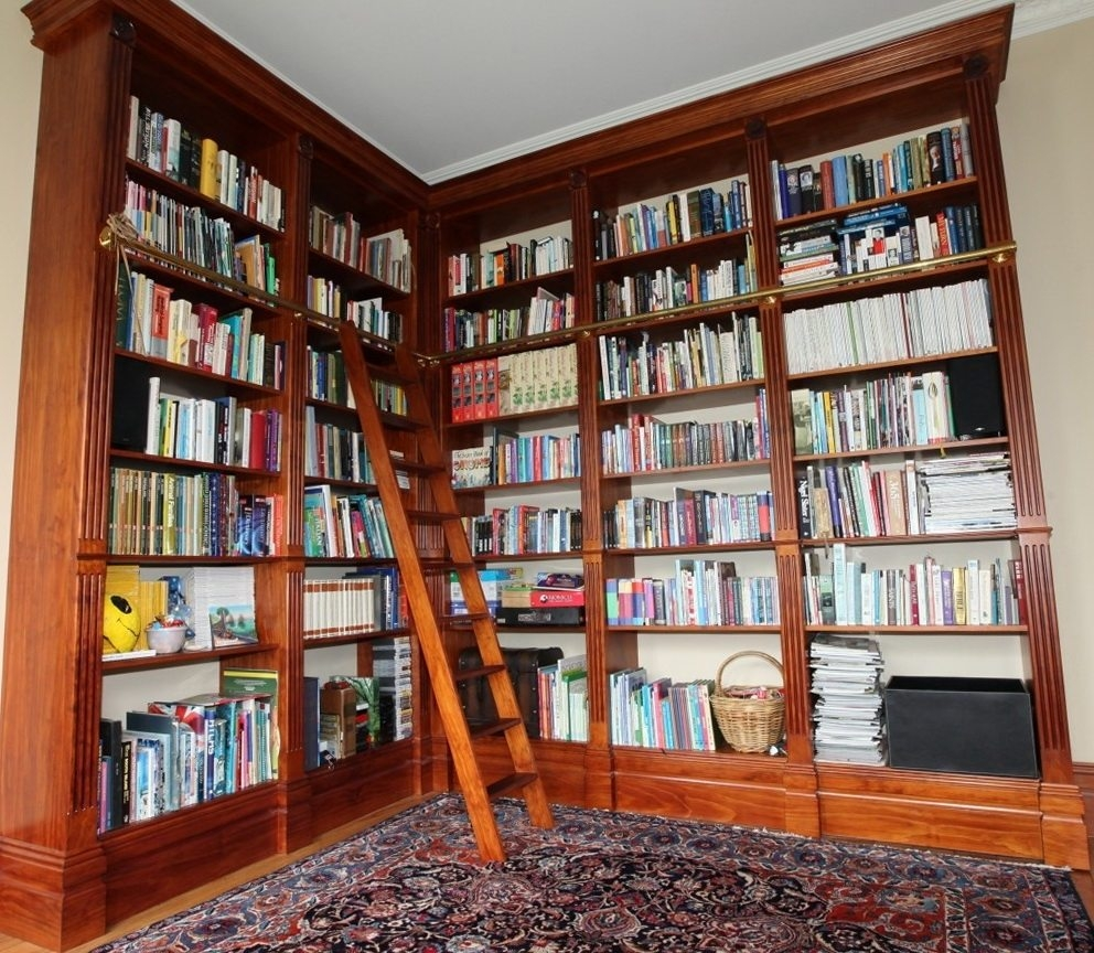 Furniture Floor To Ceiling Bookshelves For Help You Organize And Intended For Bookshelf With Cabinet Base (#13 of 15)
