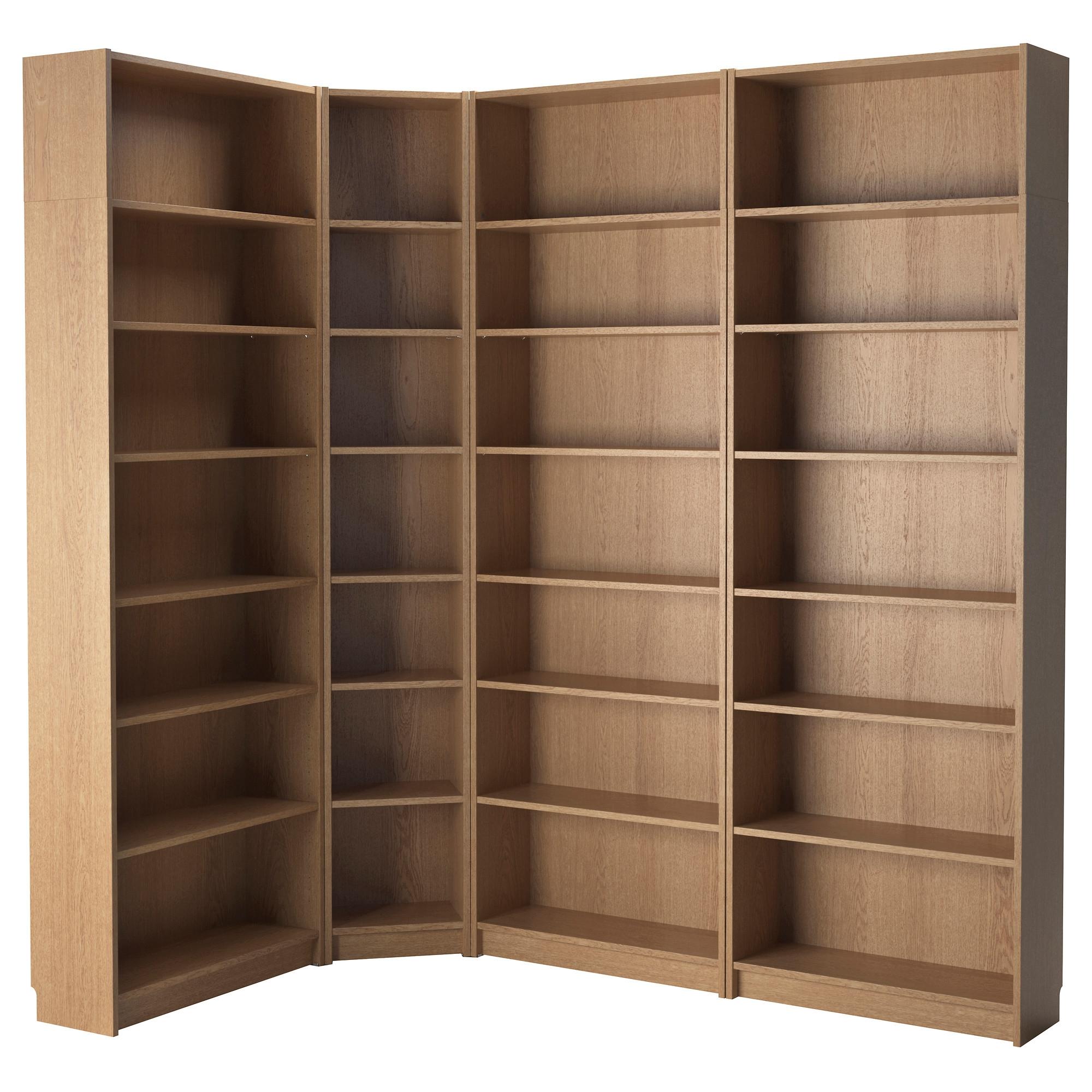 Furniture Interesting Corner Ikea Hemnes Bookcase With Oak Wood For Corner Oak Bookcase (View 6 of 15)