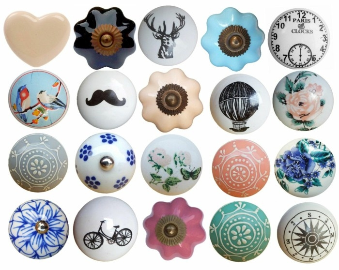 Furniture Knobs Vintage Roselawnlutheran Intended For Porcelain Cupboard Knobs (View 5 of 15)