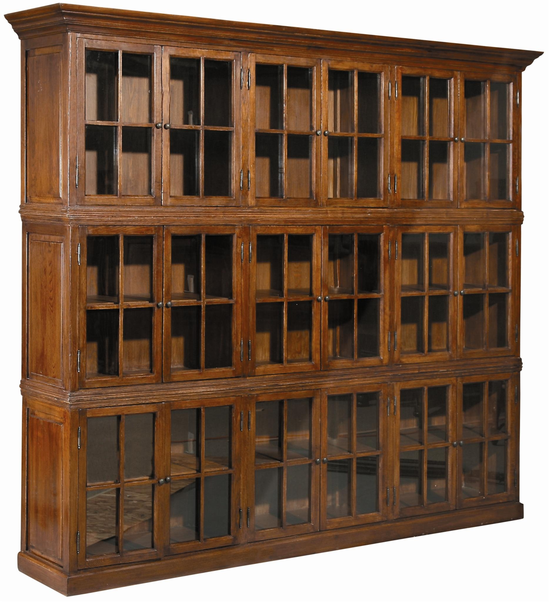 Furniture Mesmerezing Bookcases With Glass Doors Give A Stunning Pertaining To Large Wooden Bookcases (View 6 of 15)