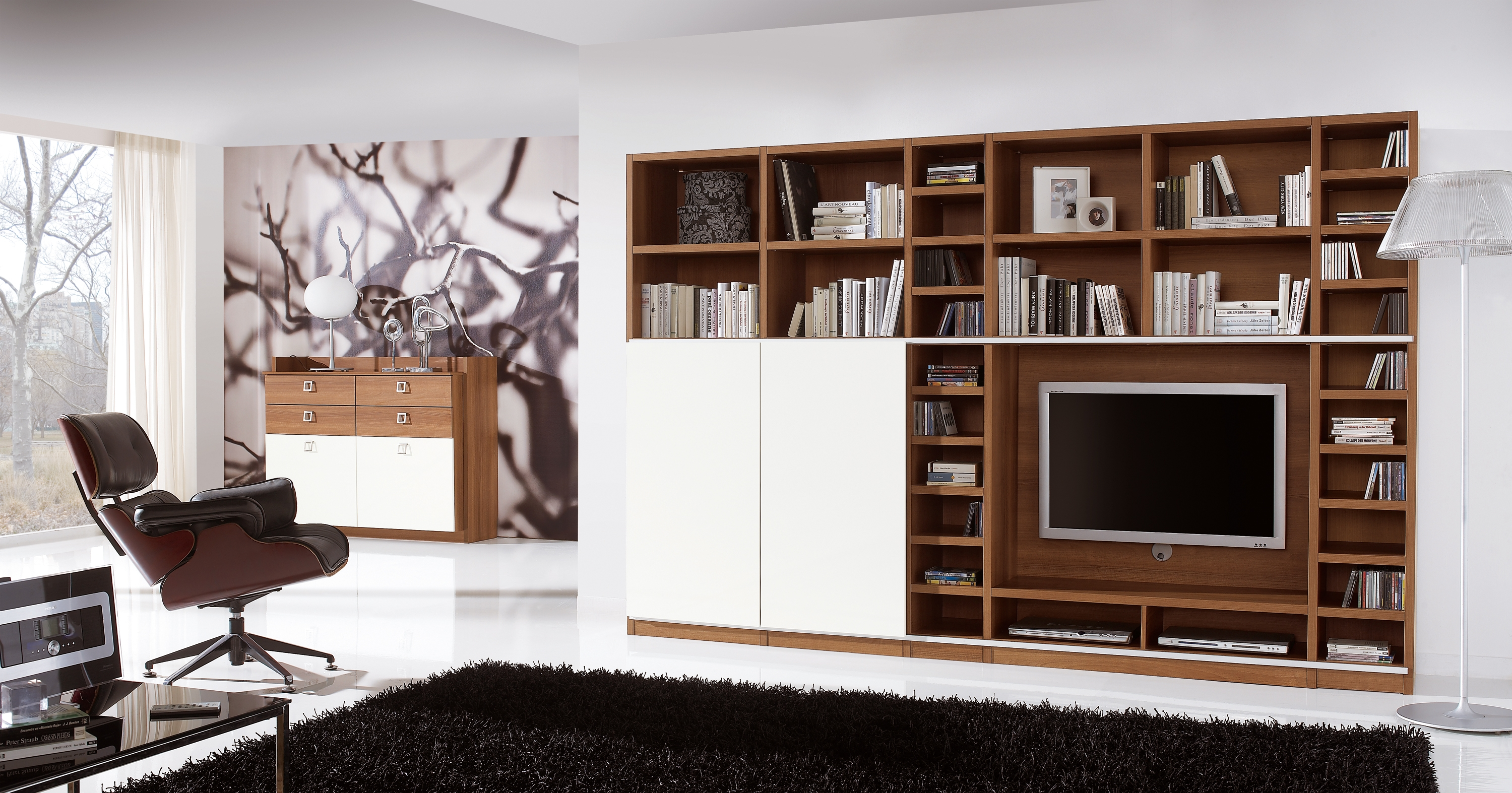 Furniture Modern Design Of Tv Cabinets With Doors To Beautify The With Bookcase With Tv Storage (#9 of 15)
