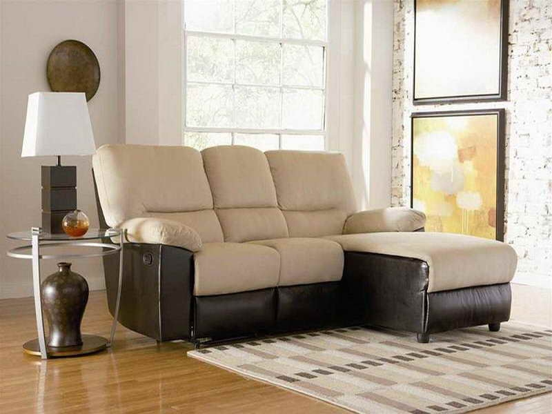 Furniture Small 2 Seat Sectional Sofa With Warm Brown Sofa With Regard To 2 Seat Sectional Sofas (#5 of 15)