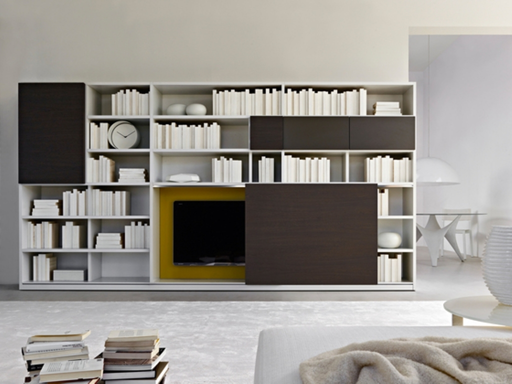 Furniture Wall Modular Elements Molteni Furniture And Within Tv Bookshelf Unit (#8 of 15)