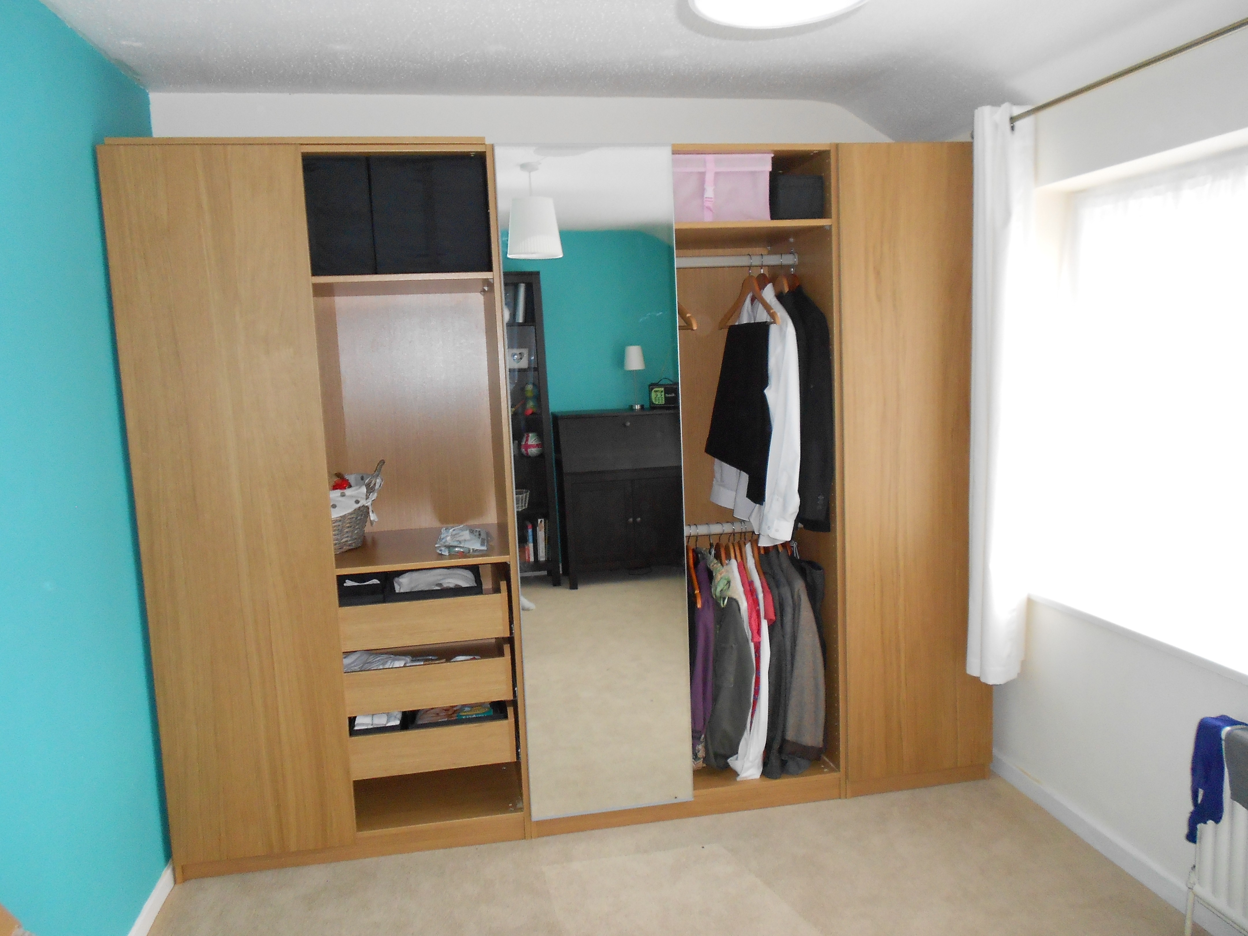 Furniture Wonderful Wardrobe With Drawers Inside Give More Space In Wardrobe With Drawers And Shelves (View 8 of 15)