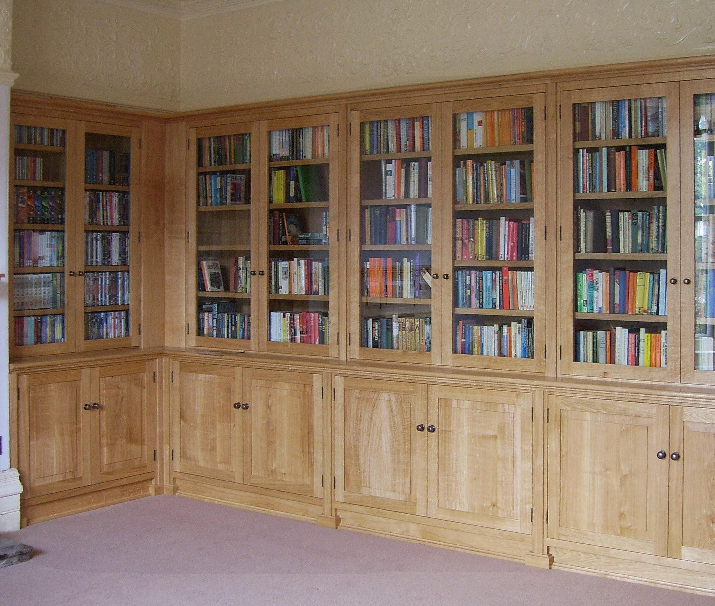 Furniture Workshop Bespoke Furniture Inside Oak Library Bookcase (#6 of 15)