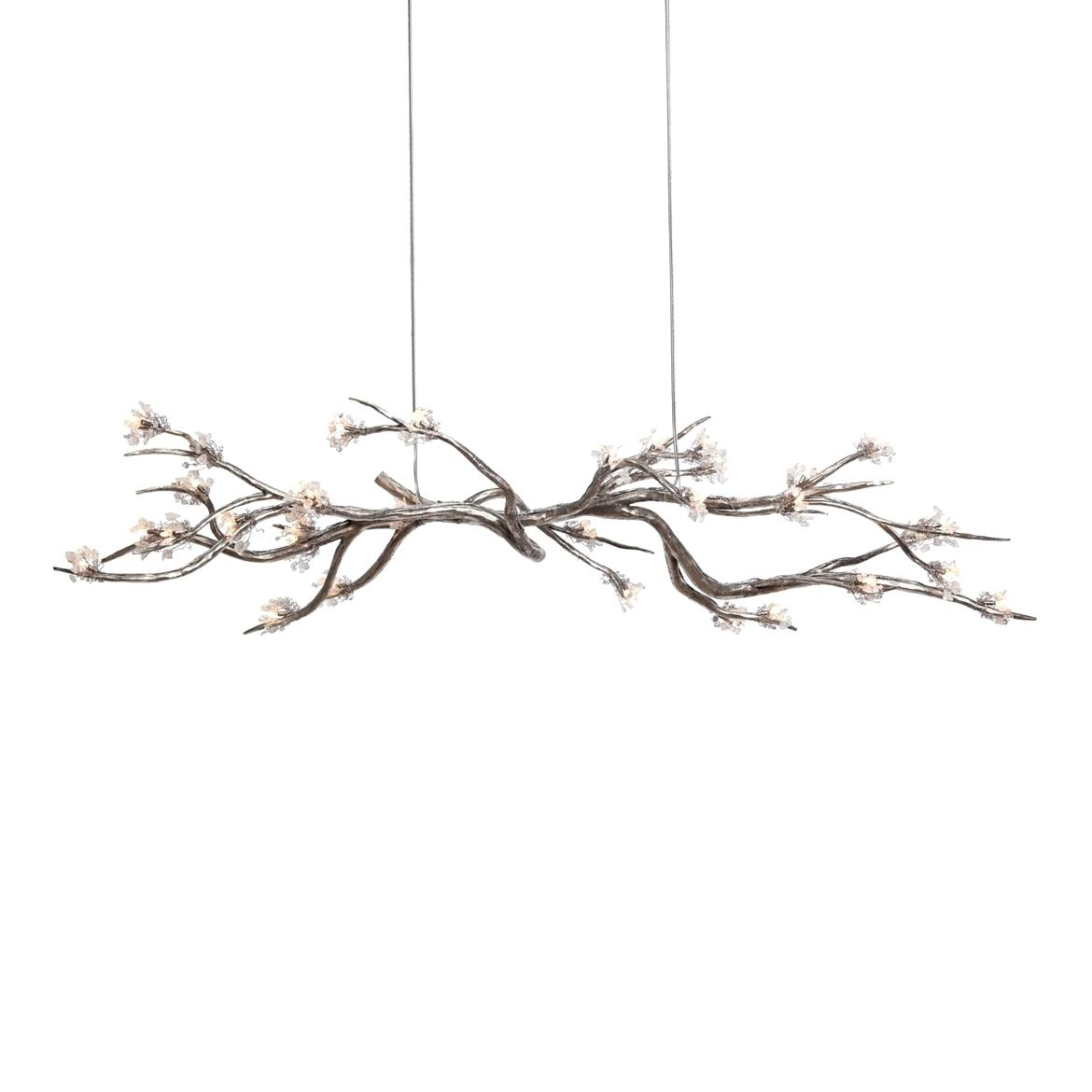 Fused Glass Chandelier Large Bohemian 12 Branch Crystal Chandelier Throughout Branch Crystal Chandelier (#9 of 12)