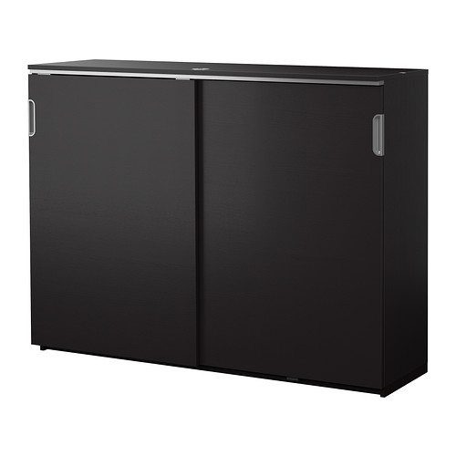 Galant Cabinet With Sliding Doors Black Brown Ikea For Cupboard Sliding Doors (#5 of 15)