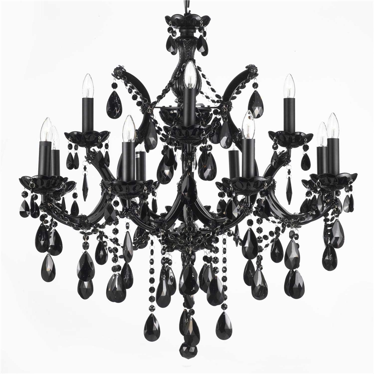 Gallery84 Wwwgallery84 Chandelier Chandeliers Crystal With Regard To Black Chandelier (#6 of 12)