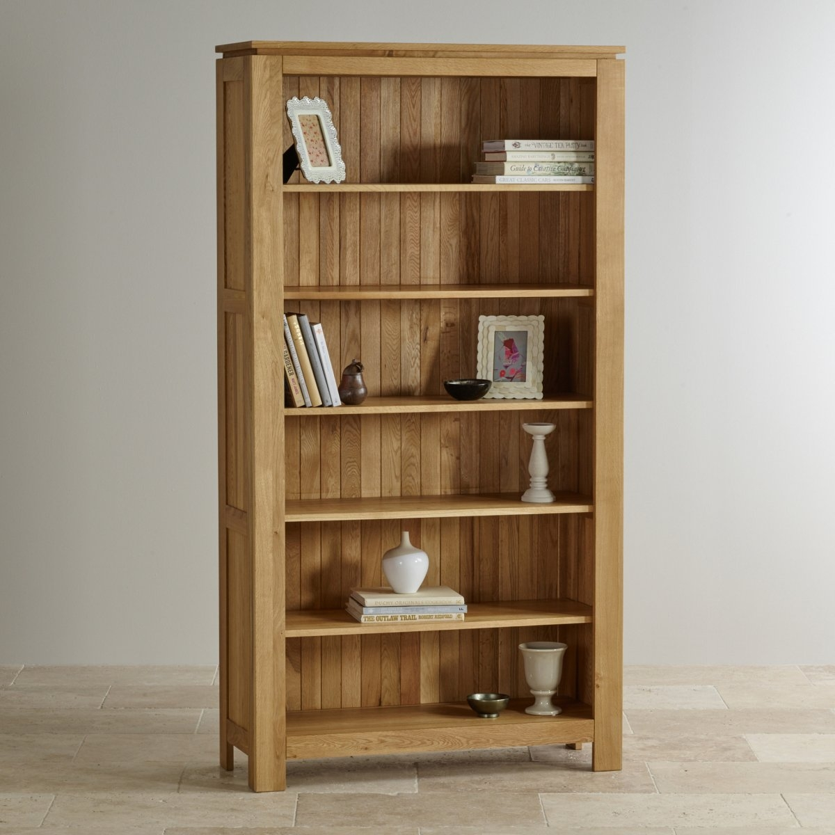 Galway Natural Solid Oak Bookcase Living Room Furniture Inside Oak Bookcase (#6 of 8)